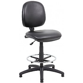 Comfort Leather Faced Draughtsman Chair