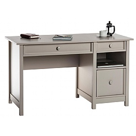 Cobblestone Grey Country Computer Desk