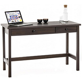Walnut Console Laptop Computer Desk