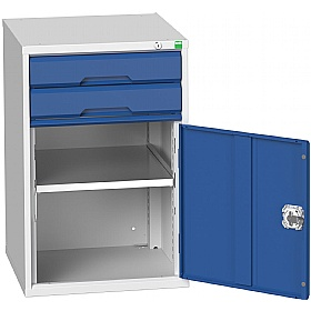 Bott Verso Drawer Cabinets - 525mm Wide x 800mm High - 2 Drawers With Cupboard