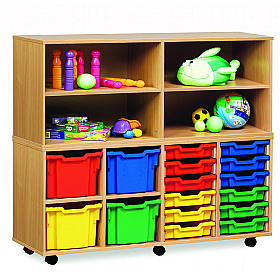 Open Storage Unit With 4 Compartments