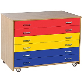 6 Drawer Multicoloured A1 Paper Storage