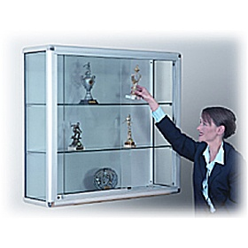 wall mounted glass display cabinet with sliding door cheap wall