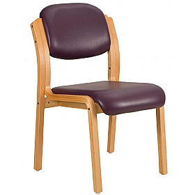 Titan Lexaire Vinyl Wooden Framed Side Chair (Pack of 2)