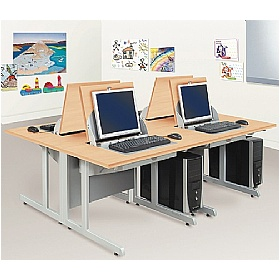 SmartTop ICT Desks - Two Person Computer Desks