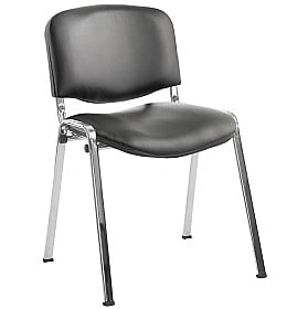 ISO Lexaire Vinyl Conference Chairs Chrome Frame