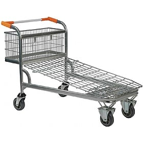 Palletower Cash & Carry Trolley - Wire Mesh Base