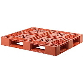 Palletower Rackable Plastic Pallet - Red