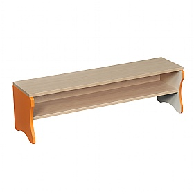Cloakroom Bench with Orange Edging