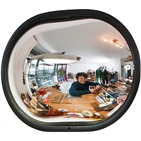 Detective Wall Mounted Oval Observation Mirrors