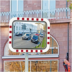 DURABEL LITE IceFree Economy Stainless Steel Traffic Mirrors