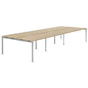 NEXT DAY Force Classic 6 Person Bench Desk