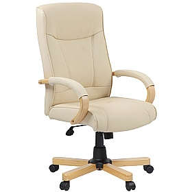Farnham Cream Leather Office Chair