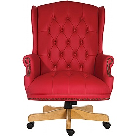 Chairman Red Traditional Manager Chair