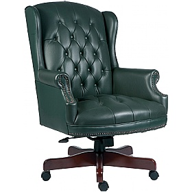 Chairman Green Traditional Manager Chair