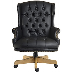 Chairman Noir Traditional Manager Chair