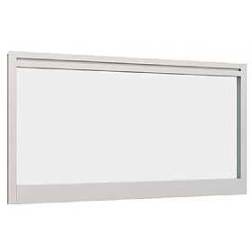 Lumiere Glazed Straight Desk Mounted Screens With Single Tool Rail