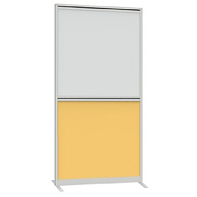 Lumiere Straight Freestanding Part Glazed Partition Screens