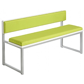 Unite Low Bench With Upholstered Back and Seat