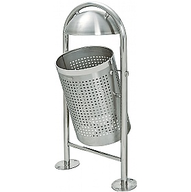 TRAFFIC-LINE Style DS35 Stainless Steel Litter Bins