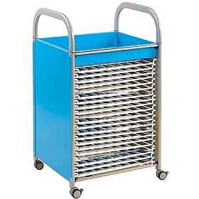 Gratnells Callero Art Storage Trolley With Drying Racks