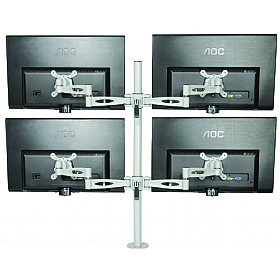Kardo Pole Mounted 4 Screen Monitor Arms