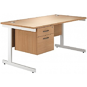NEXT DAY Phase Single Pedestal Cantilever Desks