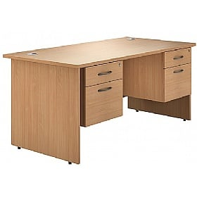 NEXT DAY Phase Double Pedestal Panel End Desks