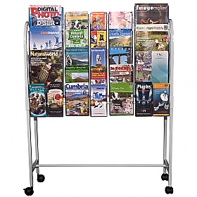 12 x A4, 20 x A5 and 18 x Third A4 Literature Dispenser Trolley
