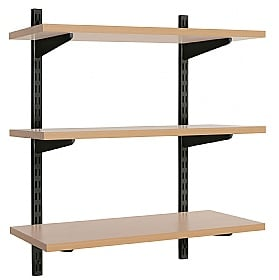 Office Wall Mounted Shelving Kit in Black