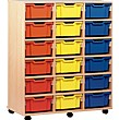 18 Tray Deep Mobile Storage