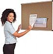 Aluminium Frame Cork Shield Noticeboards