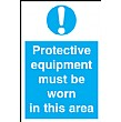 Protective Equipment Must Be Worn In This Area Sign