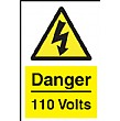 Danger 110 Volts Sign