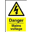 Danger Mains Voltage Sign