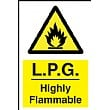 L.P.G. Highly Flammable Sign