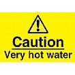 Caution Very Hot Water Sign