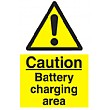 Caution Battery Charging Area Sign