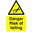 Danger Risk Of Falling Sign