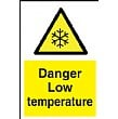 Danger Low Temperature Sign