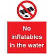 No Inflatables In The Water Sign
