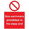 Non-Swimmers Prohibited In The Deep End Sign