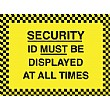 Security ID Must Be Displayed At All Times Sign