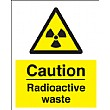 Caution Radioactive Waste Sign