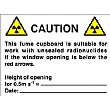 Caution This Fume Cupboard Is Suitable For…. Sign