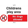 Childrens Play Area No Dogs Allowed Sign