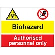 Biohazard Authorised Personnal Only Sign