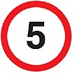 '5' Non Reflective Sign