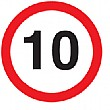 '10' non reflective Sign