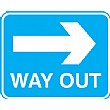 Way Out Right Arrow Sign